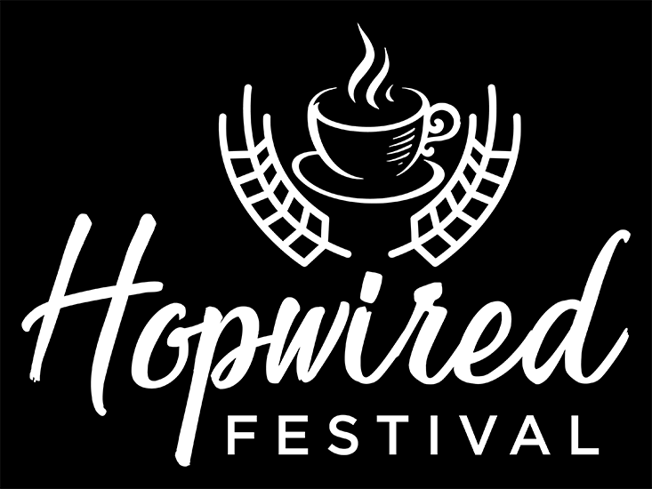 Hopwired White Logo with Black Background (png)