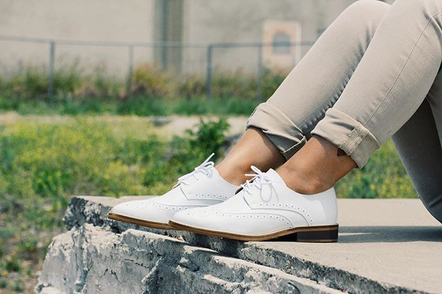 Can't get enough of these Bright White Wingtips!  #liveparallel