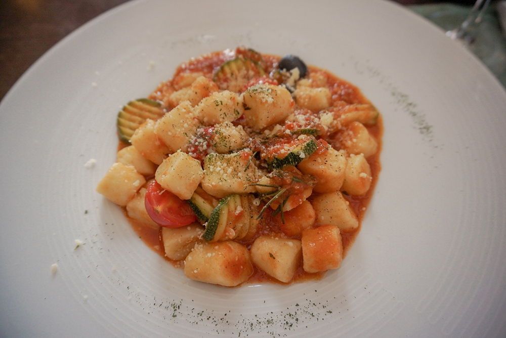 Home made gnocchi with grilled vegetables