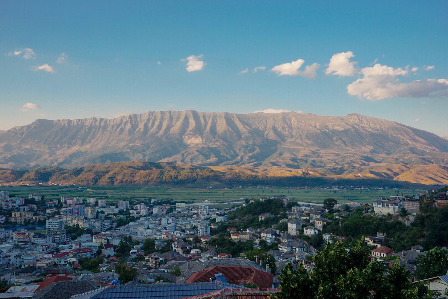 View of the mountains in Gjirokaster
