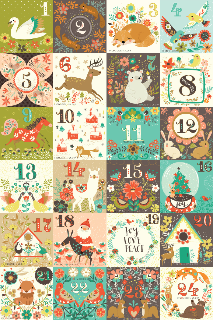 Coco Gigi Design - Christmas Advent Calendar 2016