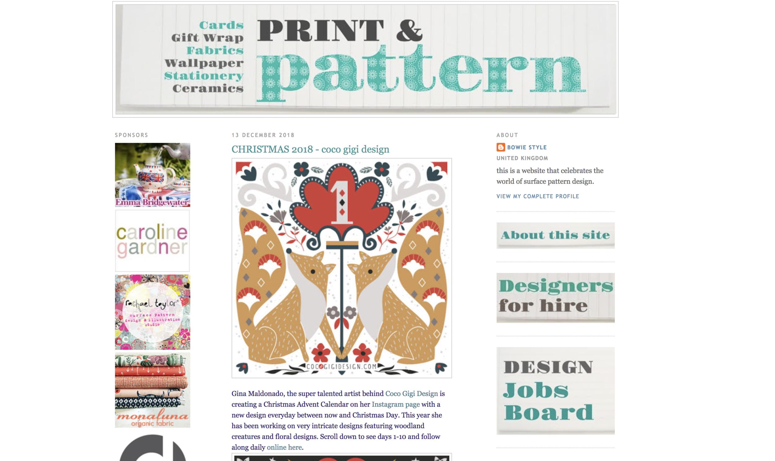 Coco Gigi Design - Print & Pattern feature