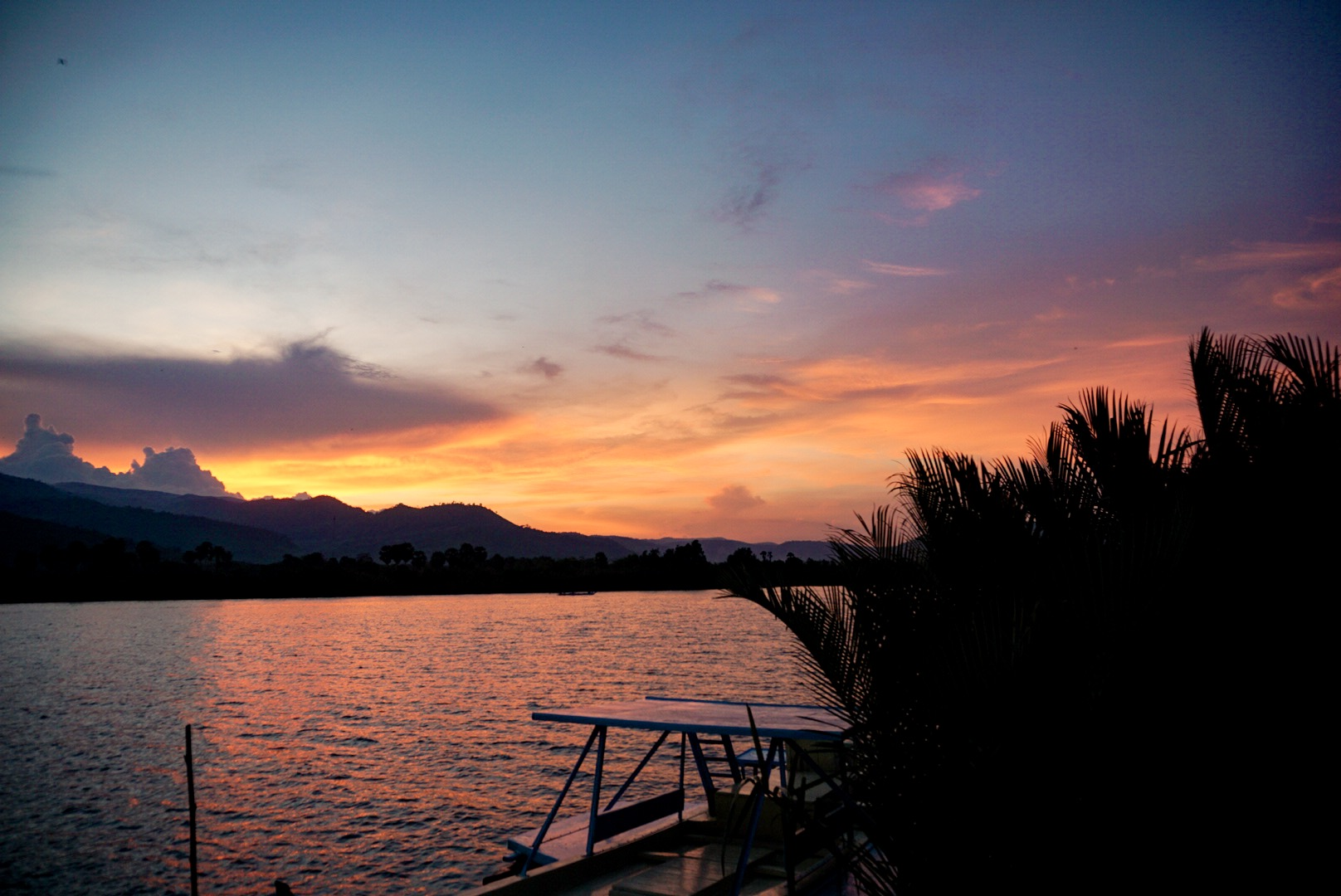 Sunset by the Kampot River