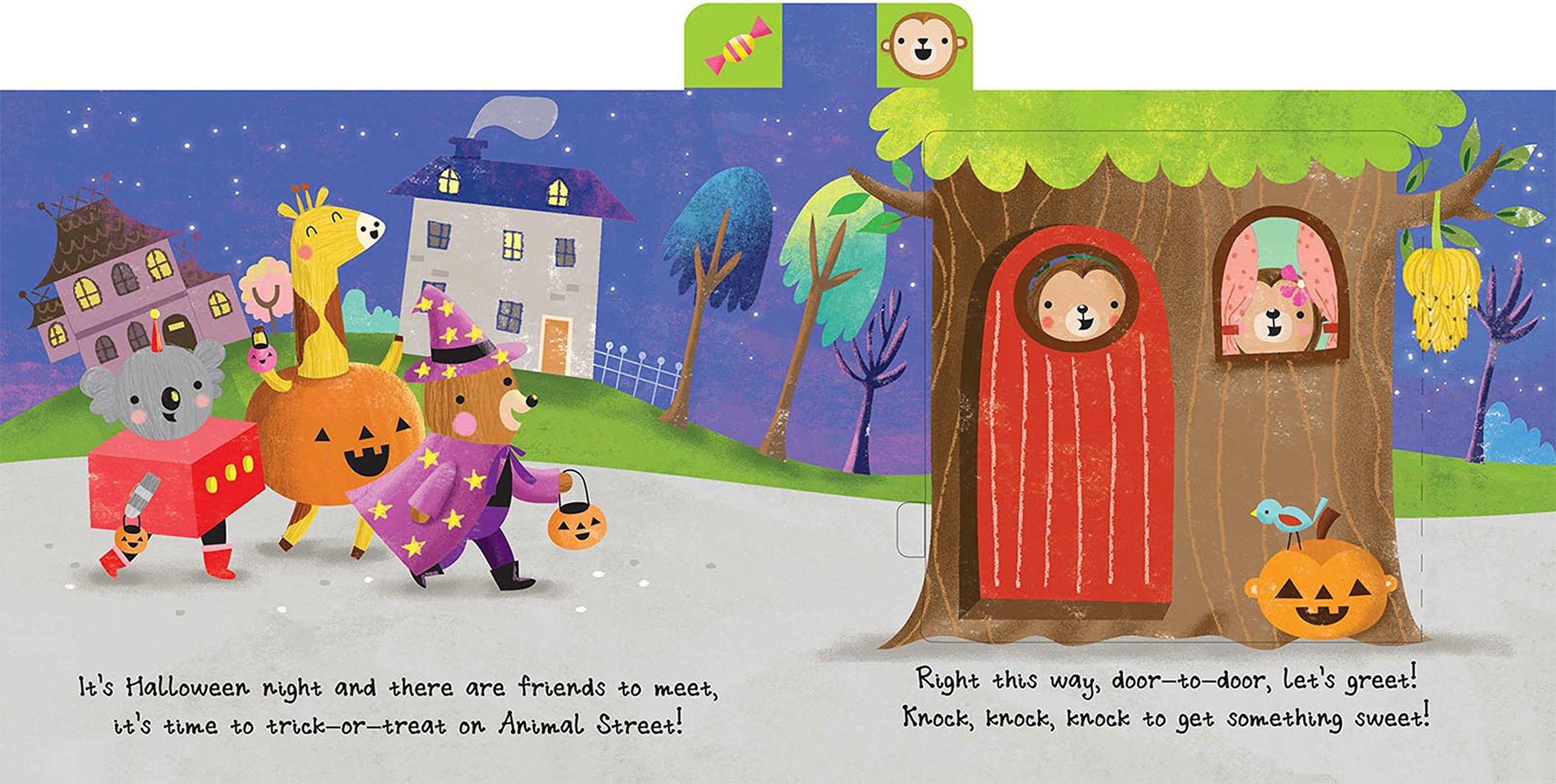 Trick or treat on animal street book spread - Coco Gigi Design.jpg