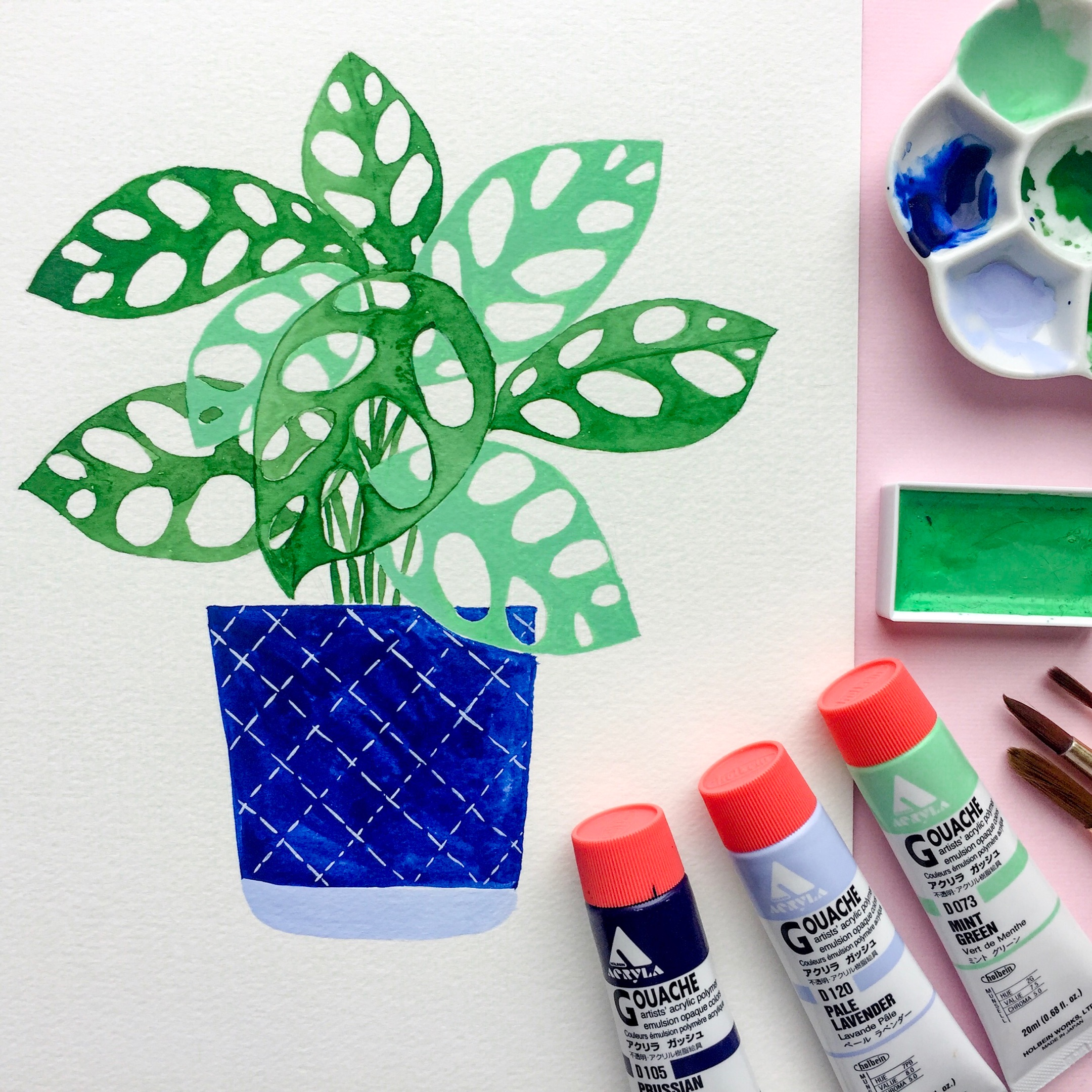 This is the plant I painted with gouache in this video!