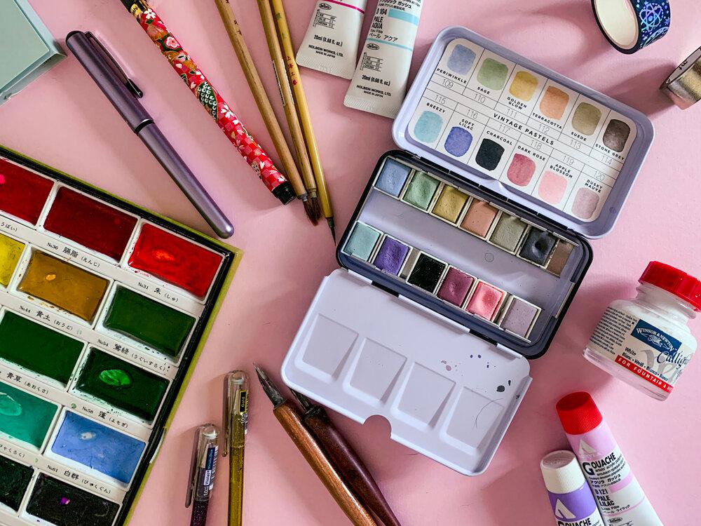 1 My favourite art supplies - Gina Maldonado - Coco Gigi Design - Illustration - Art Licensing.jpg