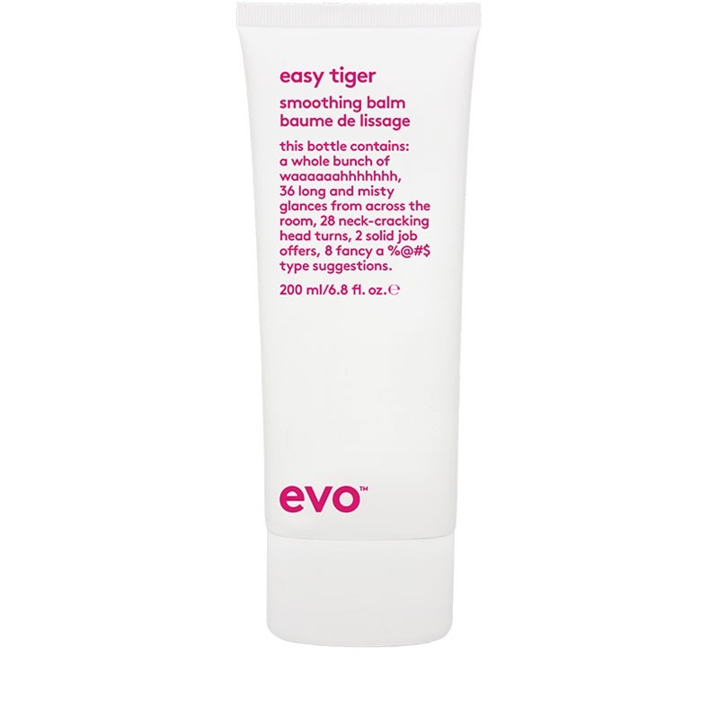 Easy Tiger - A lightweight smoothing balm that conditions and smooths the hair with ultimate frizz control. This is great to dry naturally in the hair to hydrate your hair and calm the frizz, the thermal protection in Easy Tiger also makes it a fantastic blowdrying balm!