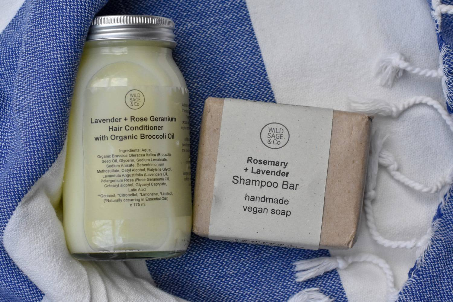WILD SAGE & Co. - Wild Sage & Co products are ALL lovely.Whilst I've been happy with lots of different shampoo bars, I've found solid conditioners a bit trickier.So this is a combo I really like - a shampoo bar, and a more traditional liquid conditioner, made with broccoli oil, of all things.I've read it's a complicated piece of alchemy, hence the hefty price tag. But for handmade, natural, shelf-worthy-plastic-free products - this range of gorgeous body, skin and hair is definitely worth a stretching the budget a little bit for.