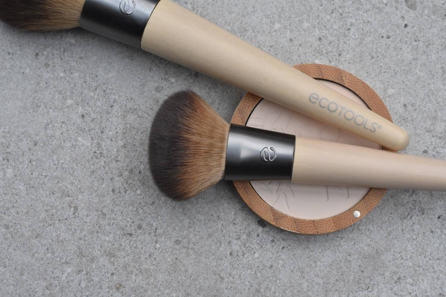 brushes - I left the only make-up brushes I had in a hotel bathroom eons ago. And, to be honest, it's been a struggle to find anything that I'm 100% happy are a genuinely eco choice. These Eco Tools were the best I'd found. But they're not perfect. The brushes themselves are made from bamboo and recycled materials. But they do come in plastic packaging, which I gather is for hygiene reasons. They are lovely quality though, so I can't see I'll be needed any others for a long time.Since buying these, I've discovered Zao do very similar brushes. Same deal, bamboo handles, vegan-friendly synthetic tops. But they are not sold in plastic packaging.