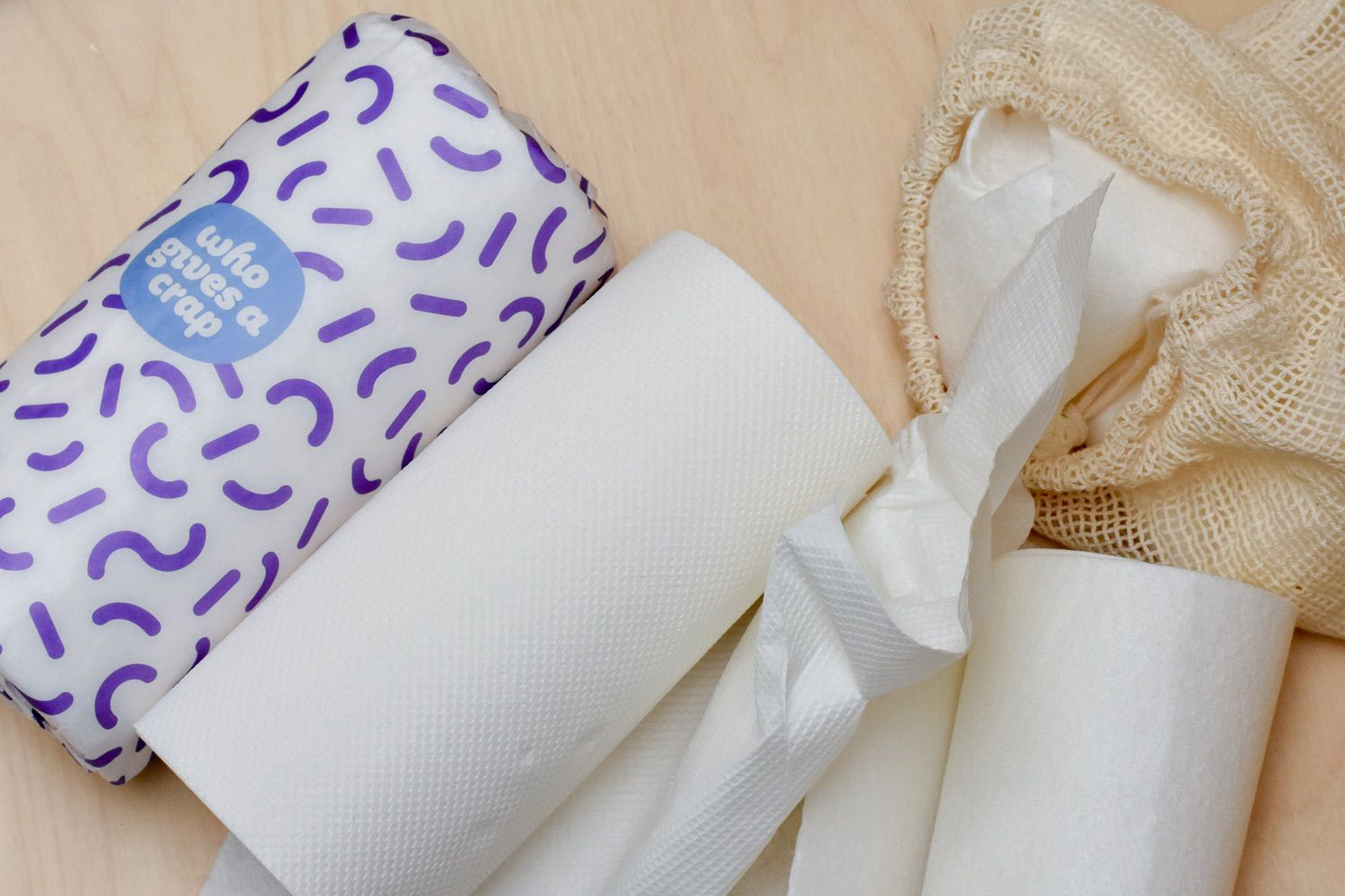 KITCHEN ROLL - There are two things we do differently now.Firstly, we've got a roll of re-usable bamboo cloths. Sized the same as kitchen paper, each sheet can be washed 80 times and then composted. I use this for all sorts of things - DIY cleansing face-wipes, baby-wipes (for my nine year old 'babies) as well as all the usual kitchen and bathroom jobs. I wash it and store it in a cotton mesh produce bag, and stuff the dirties in a jam jar under the sink.We also keep a few rolls of back-up regular kitchen paper. It's better than normal kitchen paper because it's made from recycled paper, or super-sustainable bamboo, and packaged either in paper or compostable wrap. I'm a fan of Who Gives a Crap and Ecoleaf.