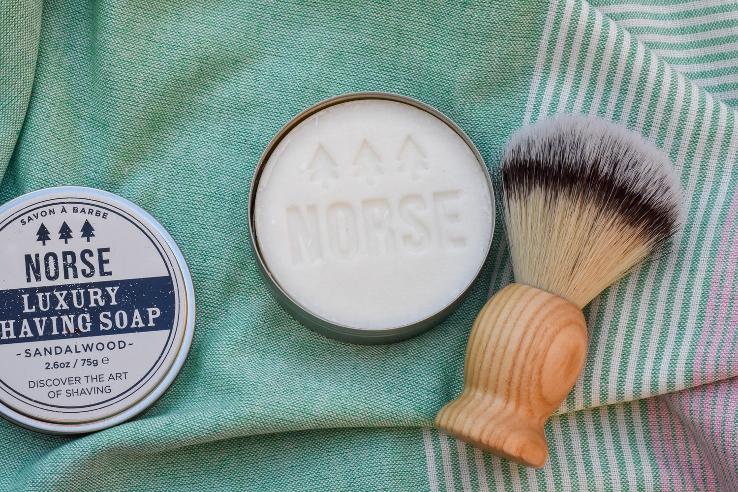 norse - Norse offer a range of natural, male-focussed grooming products.They make beautiful stainless steel safety razors, which I have heard are a joy to use, and not as scary as safety razors can initially feel.In addition, Norse make a range of natural shaving soaps, that give a perfect creamy foam, as well as vegan-friendly brushes (not pictured).And if shaving isn't your thing, have a look at the products for keeping beards looking beautiful - oils, balms and waxes.