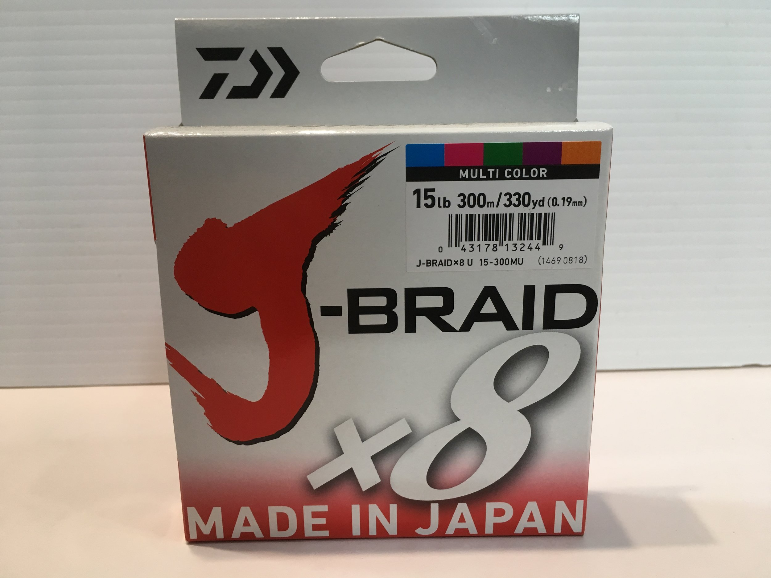 Daiwa J-Braid X8 Multicolor