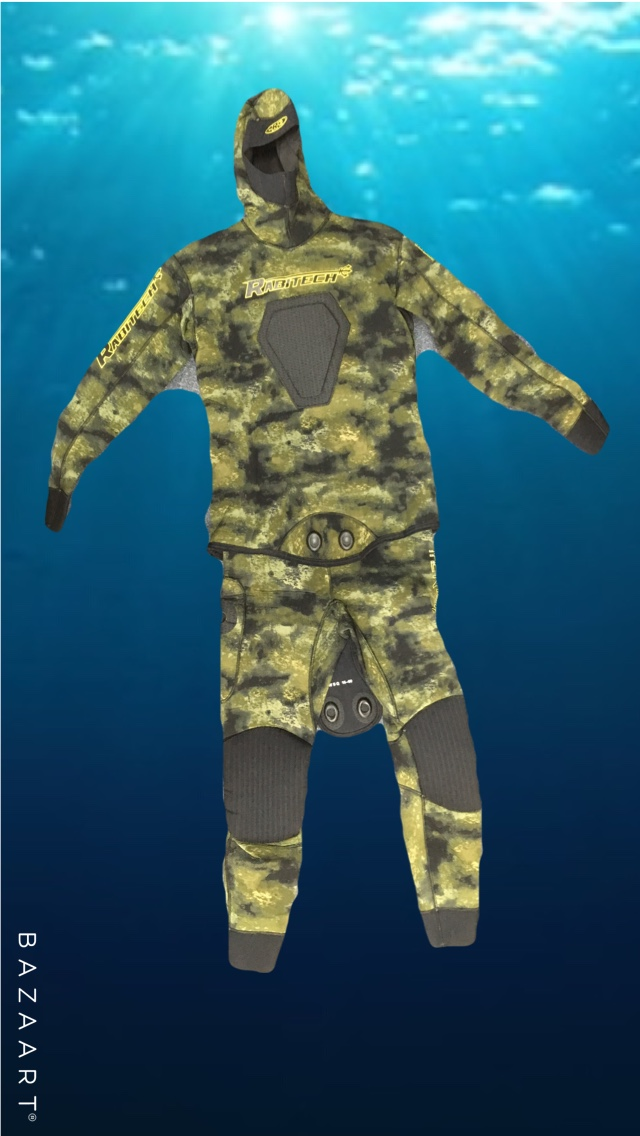 - - High Quality 3.5mm Japanese Yamamoto foam, this is softer and warmer than cheaper options.- Maxi Stretch Neoprene, allows for greater comfort and fit.- Anatomic cut, fits divers better keeping them warmer and more comfortable.- Beefy loading pad, makes loading the gun a breeze.- 5mm Supratex knee pads, these are designed to give the best protection, great for those bashing around the rocks.- 3.5mm Supratex elbow pads, great protection for your elbows when crawling around on the bottom.- 3.5mm Supratex butt padding, extra protection when climbing out of the wash and having to sit on sharp rocks.- Pocket on the right thigh, perfect for your knife and torch.- Traditional Smooth Skin cuffs- Latex Dots on seam joins, to prevent stitching unraveling.Finished in a very natural looking camo pattern allowing you to blend into your surroundings.