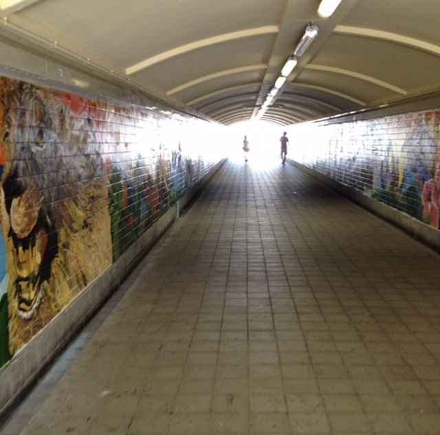 A look at the tunnel as you enter - coming from the MRT Station