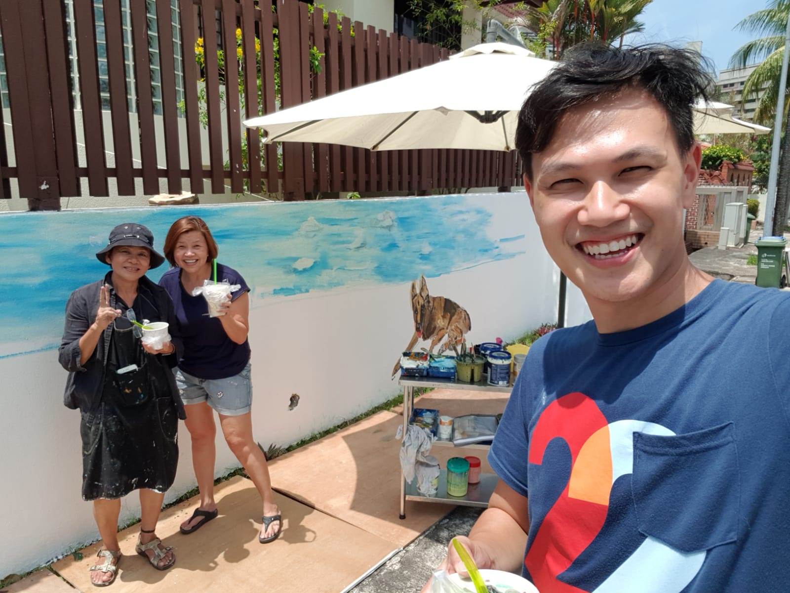 Miracle No. 2 - Samaritan Karen whose bubbly and happy-go-lucky personality makes us smile on a hot day! She brought drinks and cooking snacks for us on Day 2. The handsome guy who took the wife is none other than Brandon who is the overlooking the operations of the therapy centre.