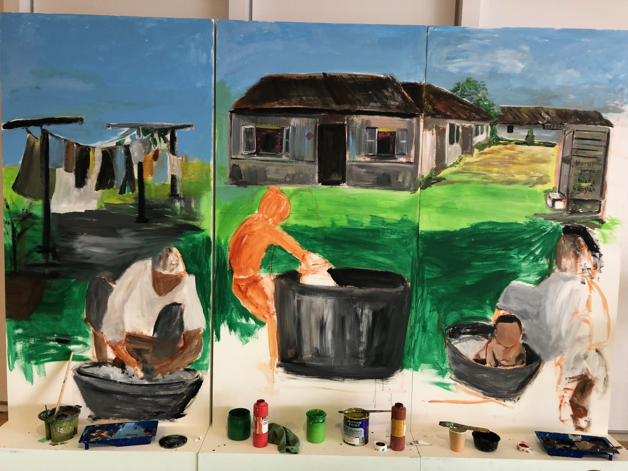 Does this look familiar? The concept is that of a kampong or village.