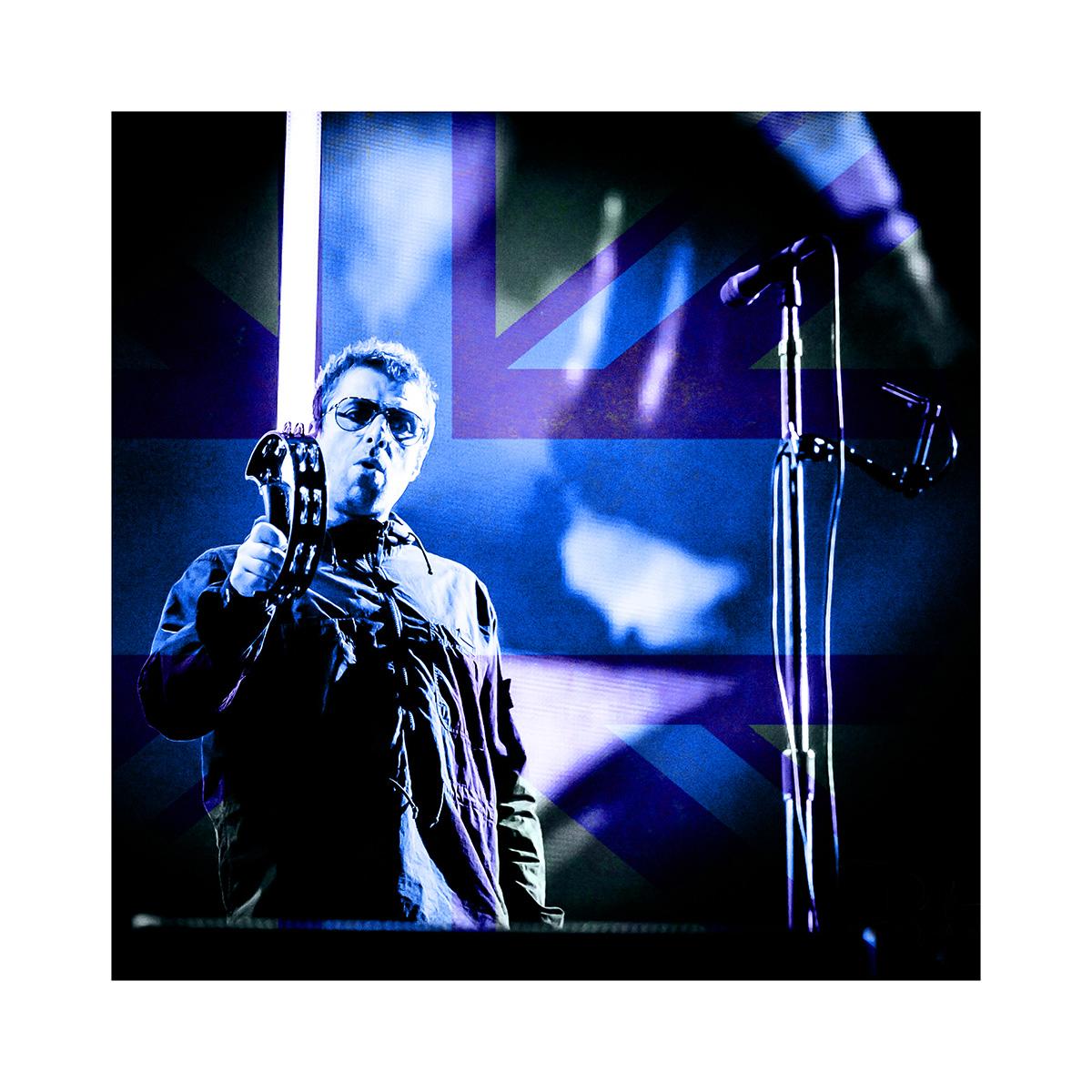 "LIAM GALLAGHER BLUE LTD EDITION PRINT 16""x20"" £195  24""x30"" £295.00  32""x40"" £395.00"
