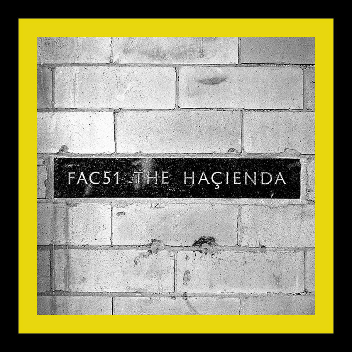 "Hacienda Club Original FAC51 Wall Manchester 20""x20"" £195.00.  30""x30"" £300.00  40""x40"" £495.00"