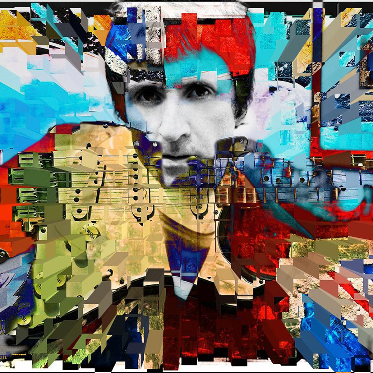 "Johnny Marr ""Guitar Art"" 12""x12"" £95.99  20""x20"" £150.00  30""x30"" £300.00"