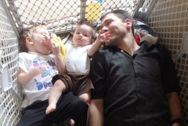 Your prizes for reading this entire post:  My gratitude, this delightful picture of me and my boys, and what should be a sense of vast accomplishment :)