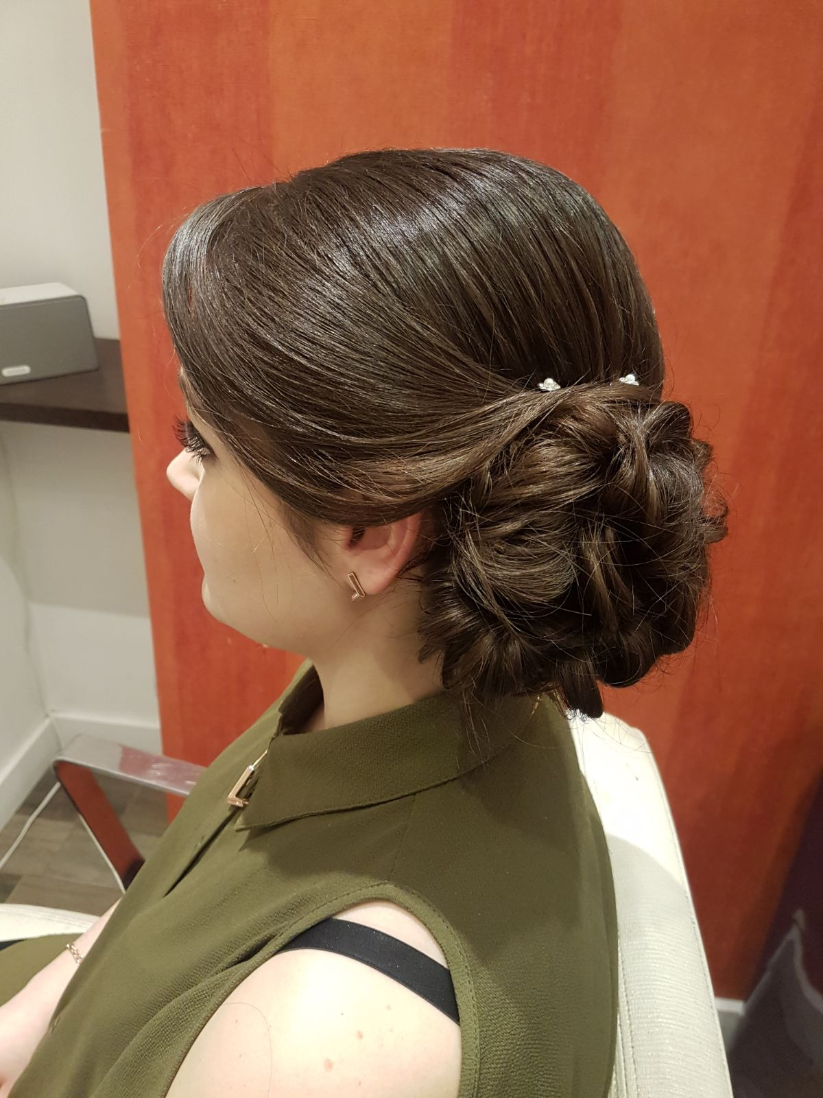 We love this style. A combination of Wand Wave and the Side Bun costing only £20