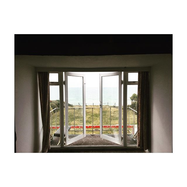 Watch this space... Sea view from the first floor balcony of our residential project in Bexhill, East Sussex. This room is soon to be transformed into a master bedroom suite, with super light sliding doors to achieve 8m clear opening, maximising every millimetre of that sea view 👌 🌊👀 #architect #architecture #refurbishment #eastsussex #seaview