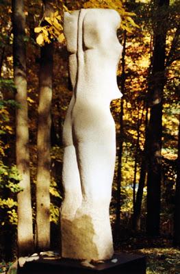 """Venus, Indiana Limestone, 60"""" x 28"""" x 28"""" , 1992"""