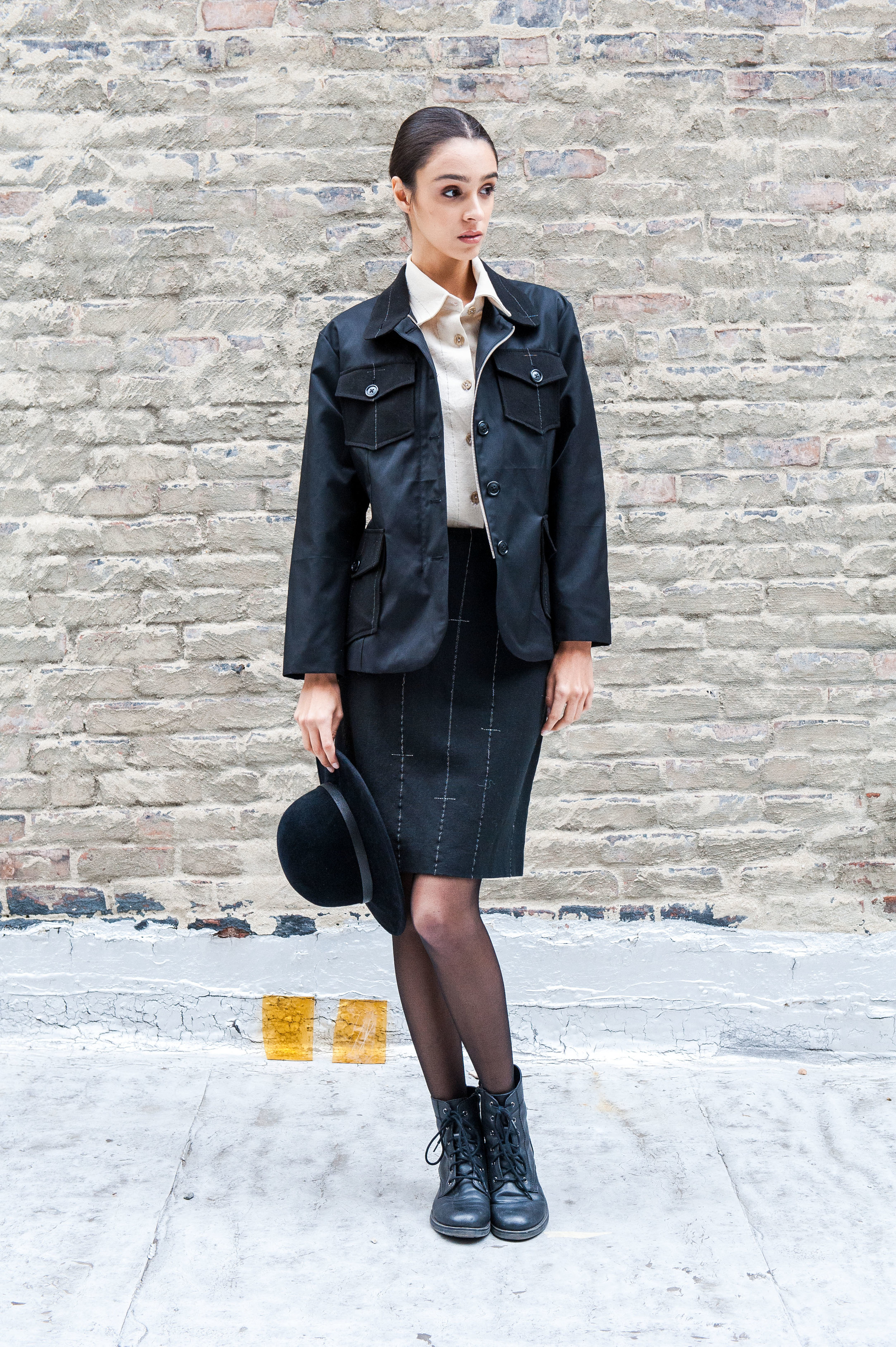 Field Skirt worn with El Bosqué Jacket and Field Shirt