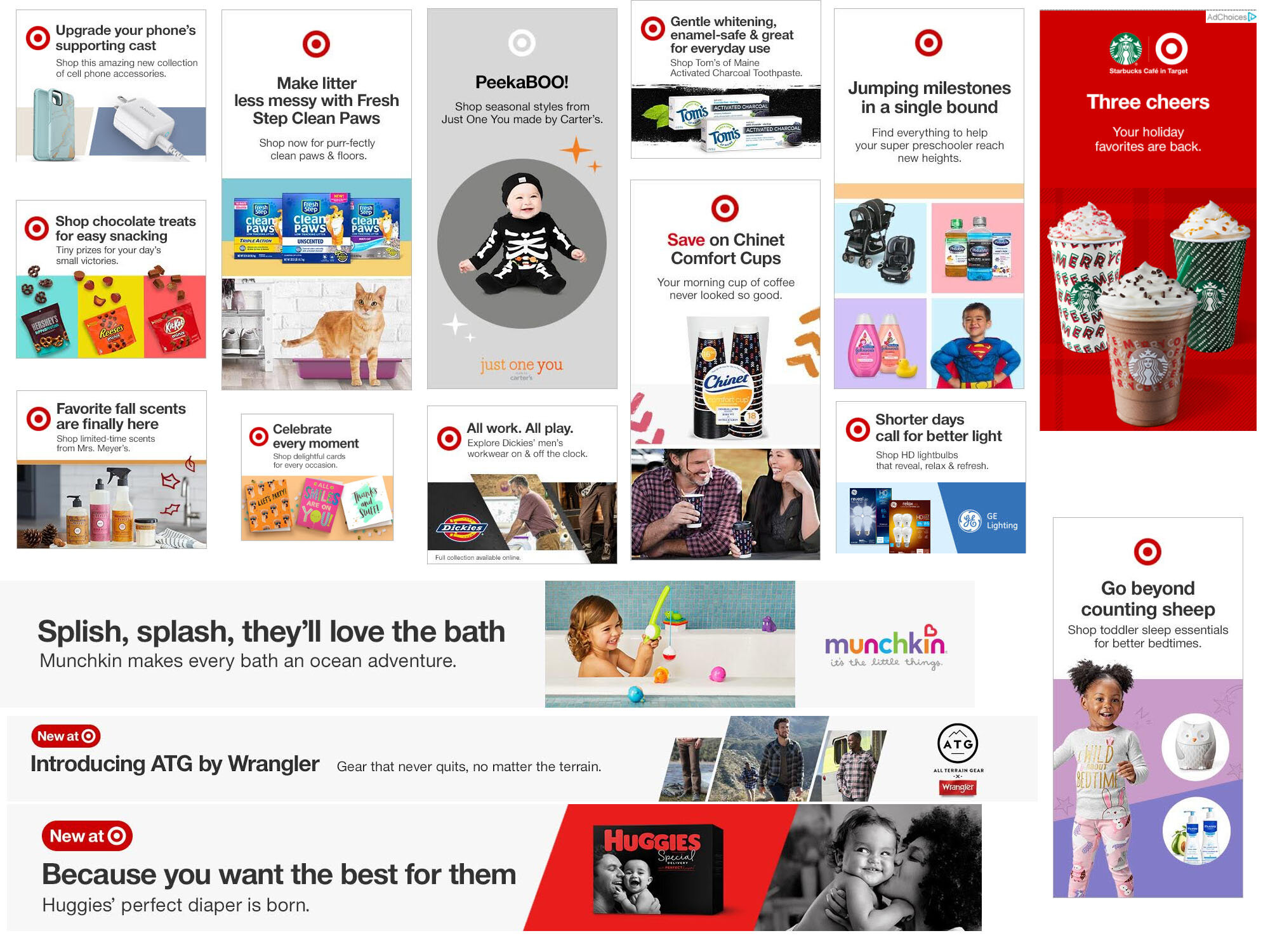 Created all copy for these Target display ads and dozens more while at  POP .