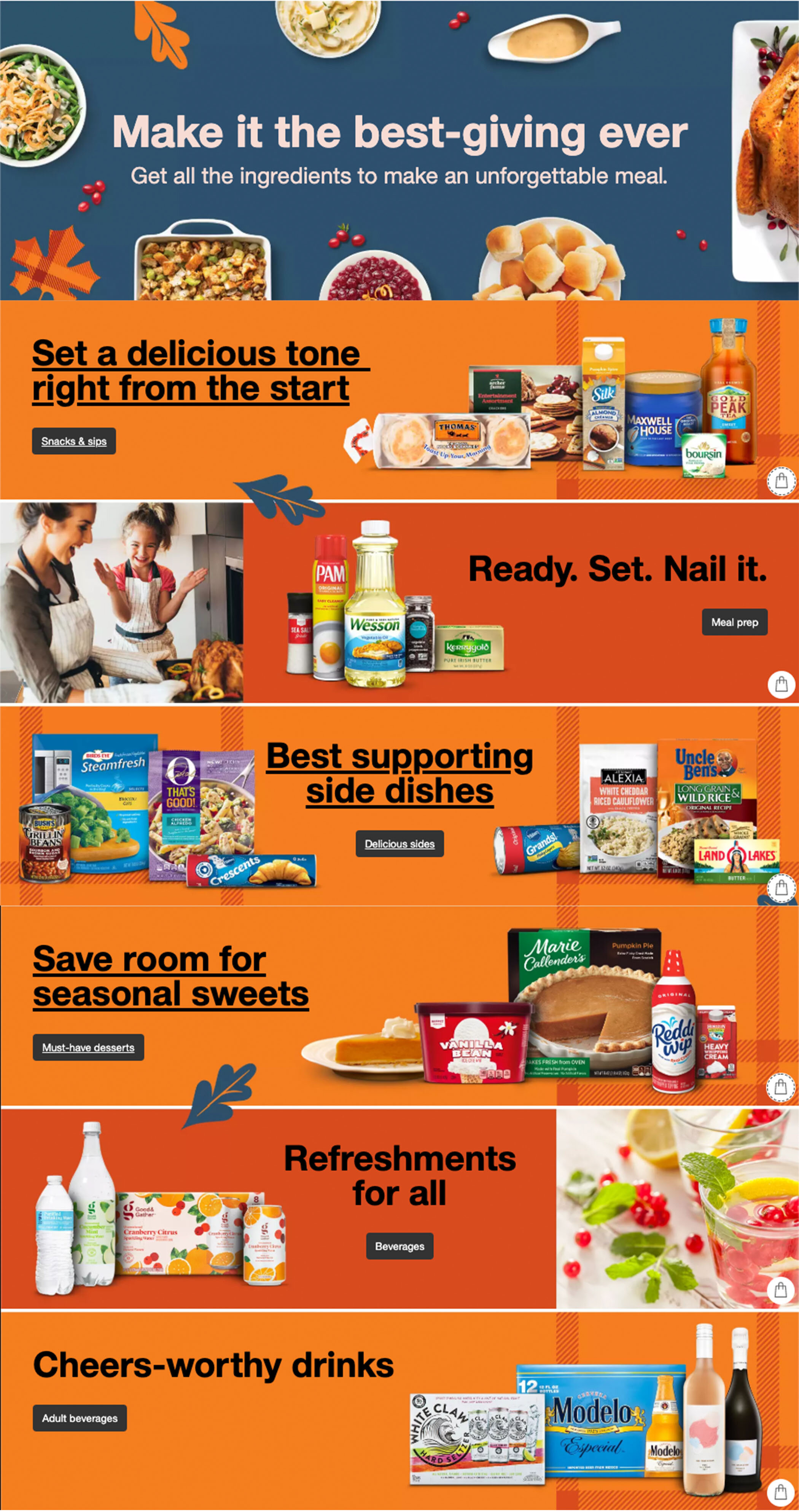 Wrote all copy for Target's Thanksgiving ingredients page.