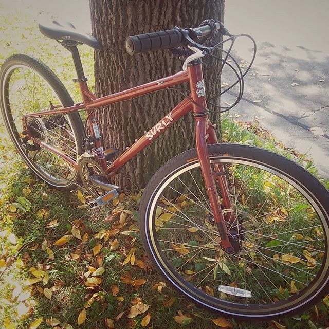 Used Surly Troll XS 3x9 Deore drivetrain Avid hydraulic brakes Soma Noah's Arc handlebars $950.00 This bicycle is in excellent condition.