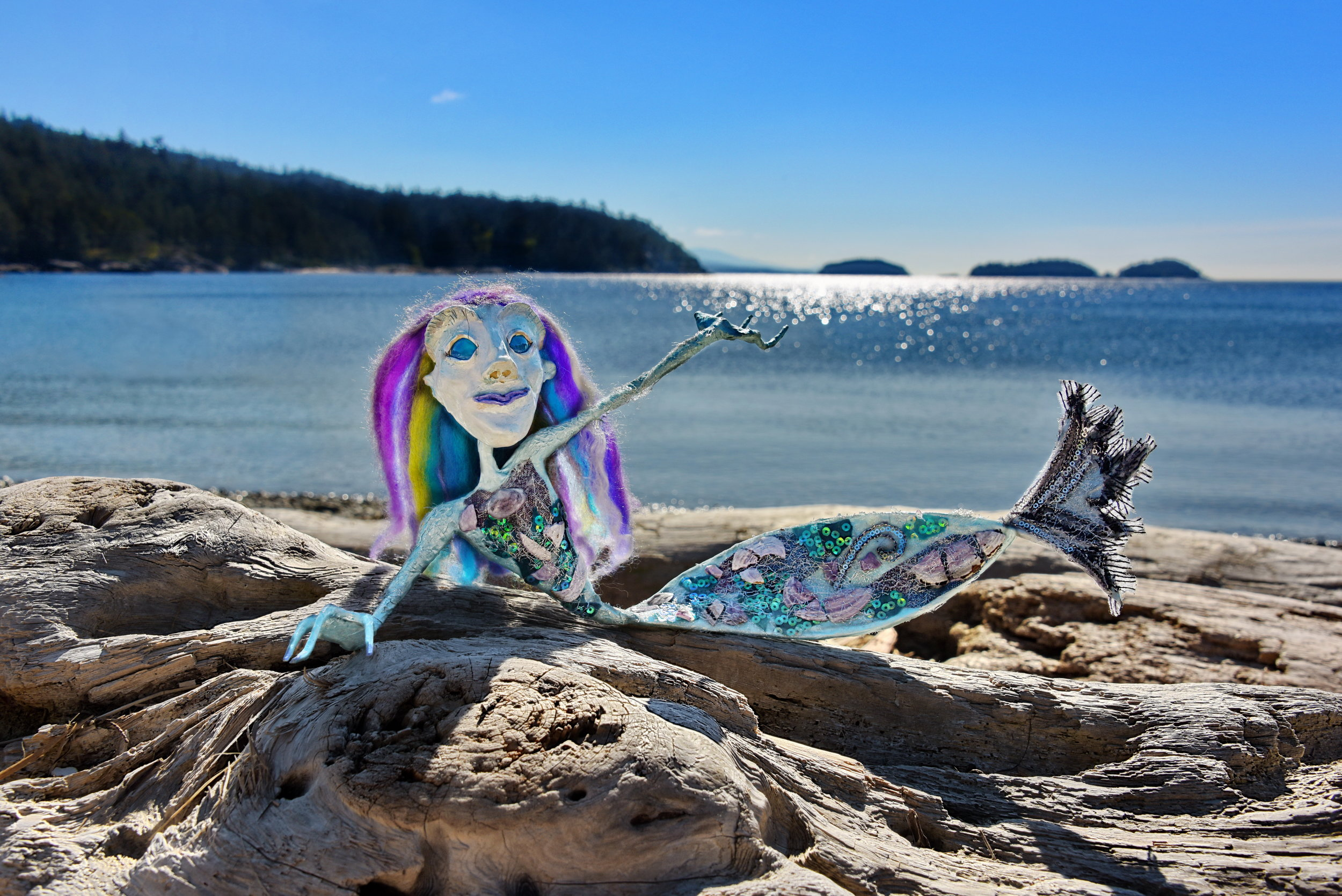 Havvie the Mer lounging at Sargeant Bay    16 x 24 Canvas 225.00 Also available as a 5 x 7 Art Card
