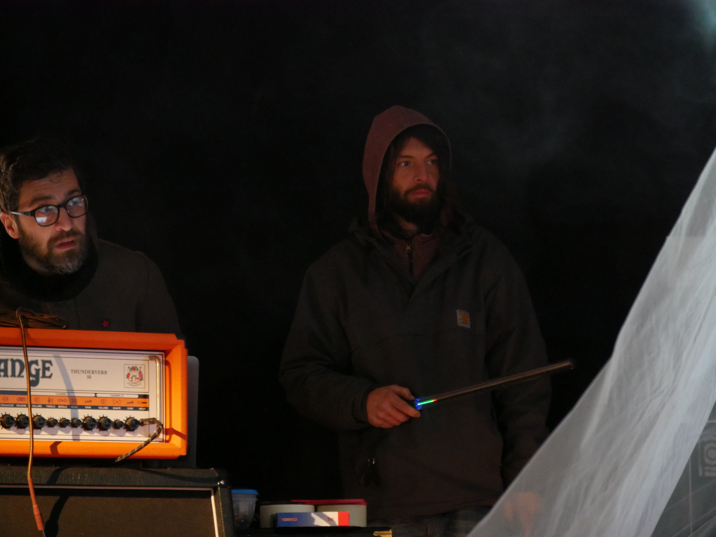 Sandro Bocci - Visual artist JSL  Andrea Karma - Visual POI performer