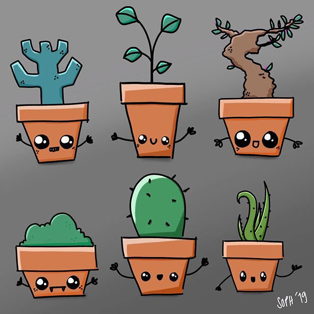 Happy Houseplants 😊🌱. It's been a long time since I've had a minute to pull out a pen, so to offset Outlook and PowerPoint; here are some happy houseplants for no reason in particular! . . . #sketch #sketching #character #toydesign #designer #plant #illustration #doodle #doodling #digitalsketch #digitalsketching #iddesign #productdesigner #design #procreate #digitalsketching #doodling #characterdesign #houseplants #characterart #instaart #art #digitaldoodle