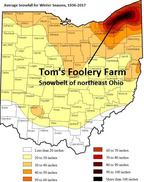 Snowbelt of northeast Ohio