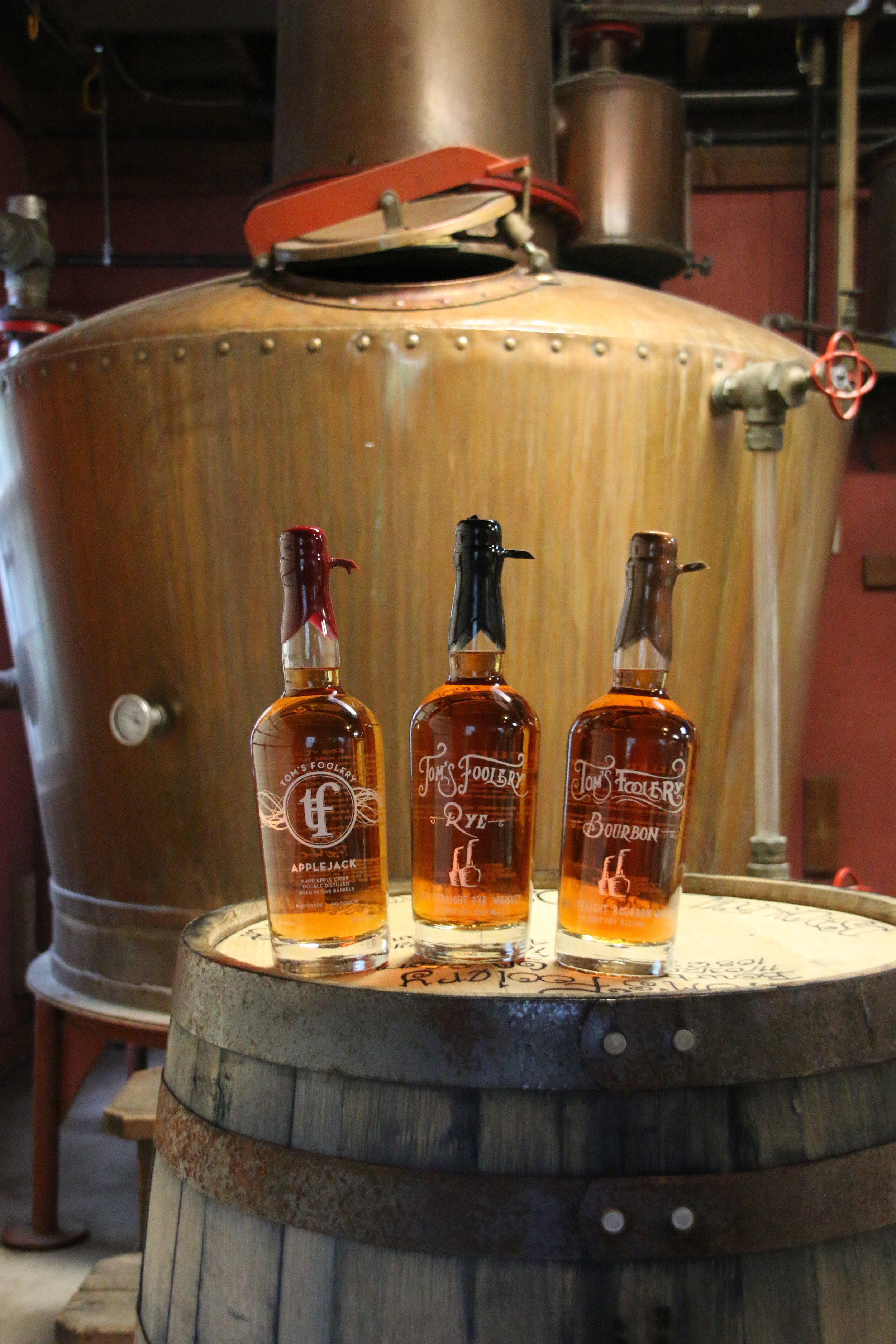 Bourbon, Rye and Applejack - Tom's Foolery began as a hobby: a barn, a still, and a family with passion for quality and tradition. Today, we are a traditional American distillery,where we make great products from scratch and share the experience with friends.Our focus is on Applejack, Bourbon, and Rye Whiskey, pot-distilled in the heart of America's Snowbelt.