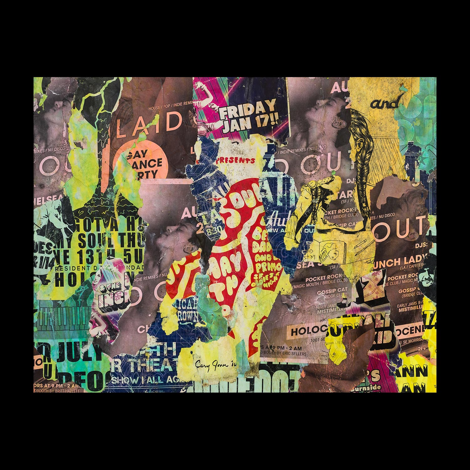 """Gay Dance Party: Portland - Mississippi District - 22"""" x 28"""""""