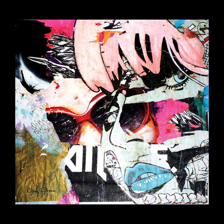 "Pink Lady: Austin - Eastside, The Drag - 28"" x 28"""