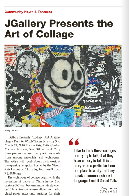 Art of Collage Article - Check out my interview in the Jewish Outlook Magazine.