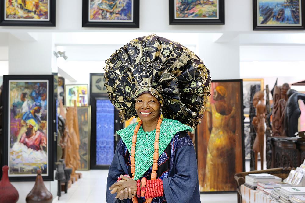 Nike Davies-Okundaye Nike Art Centre -galleriassaan Lagosissa.