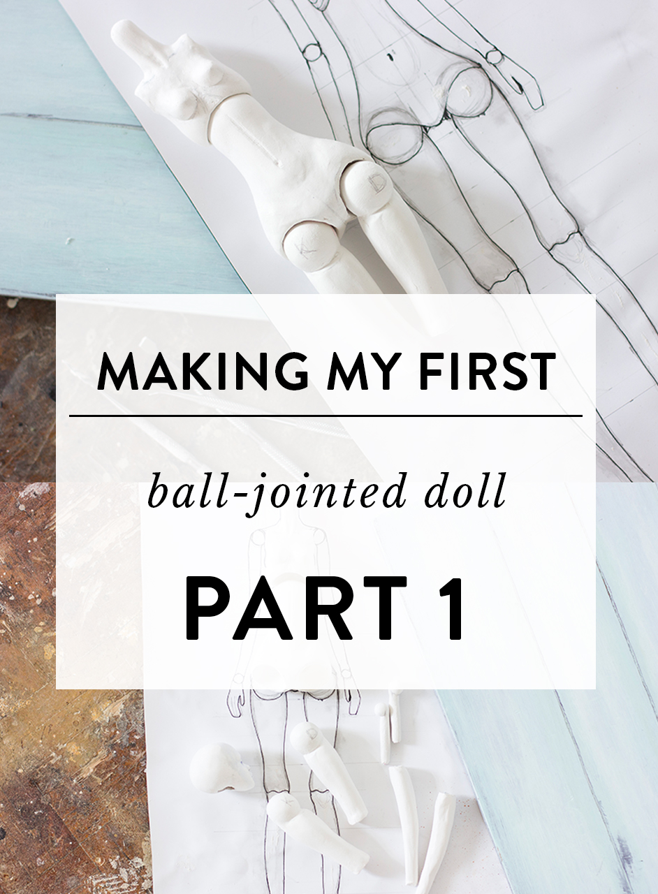 Making my first ball jointed doll by Adele Po.