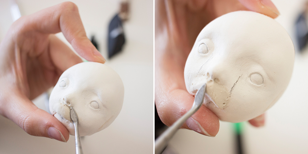 How to sculpt cute faces for your dolls? Tutorial by Adele Po