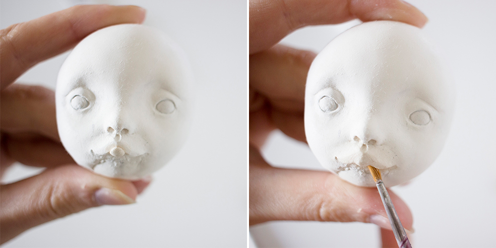 How to sculpt cute faces for your dolls? Tutorial by Adele Po.
