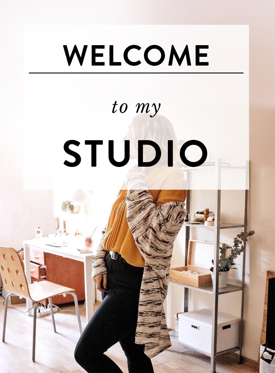 Doll artist studio tour by Adele Po.