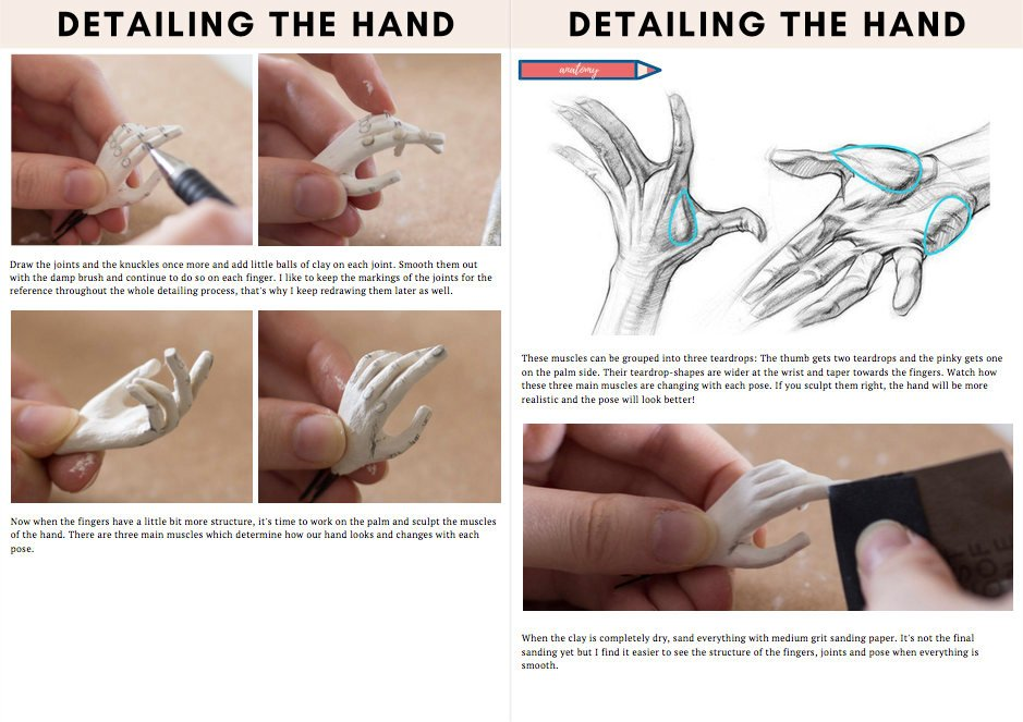 Hand sculpting tutorial by adelepo
