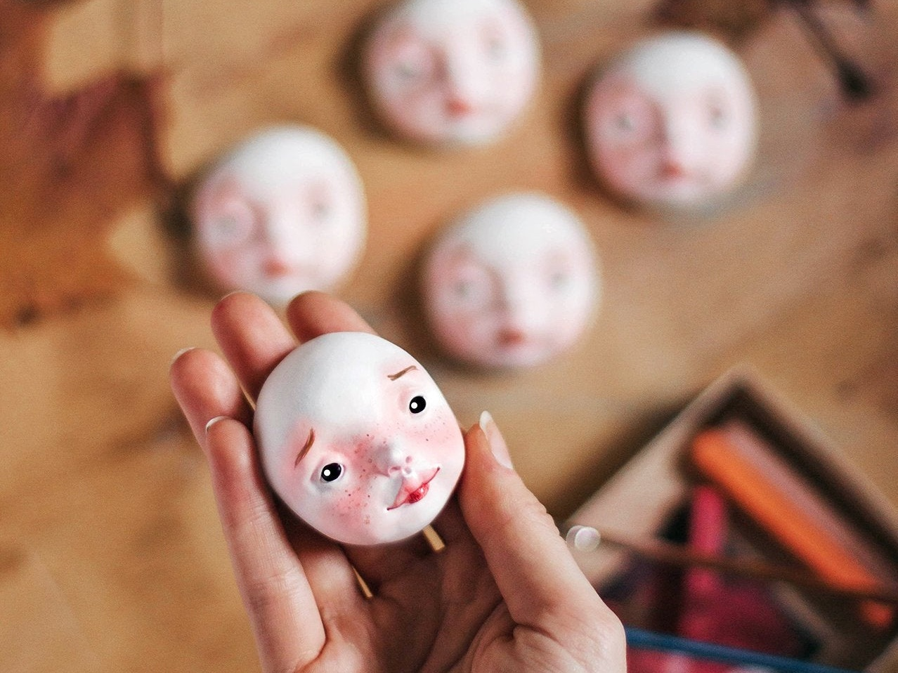 Doll heads for doll making