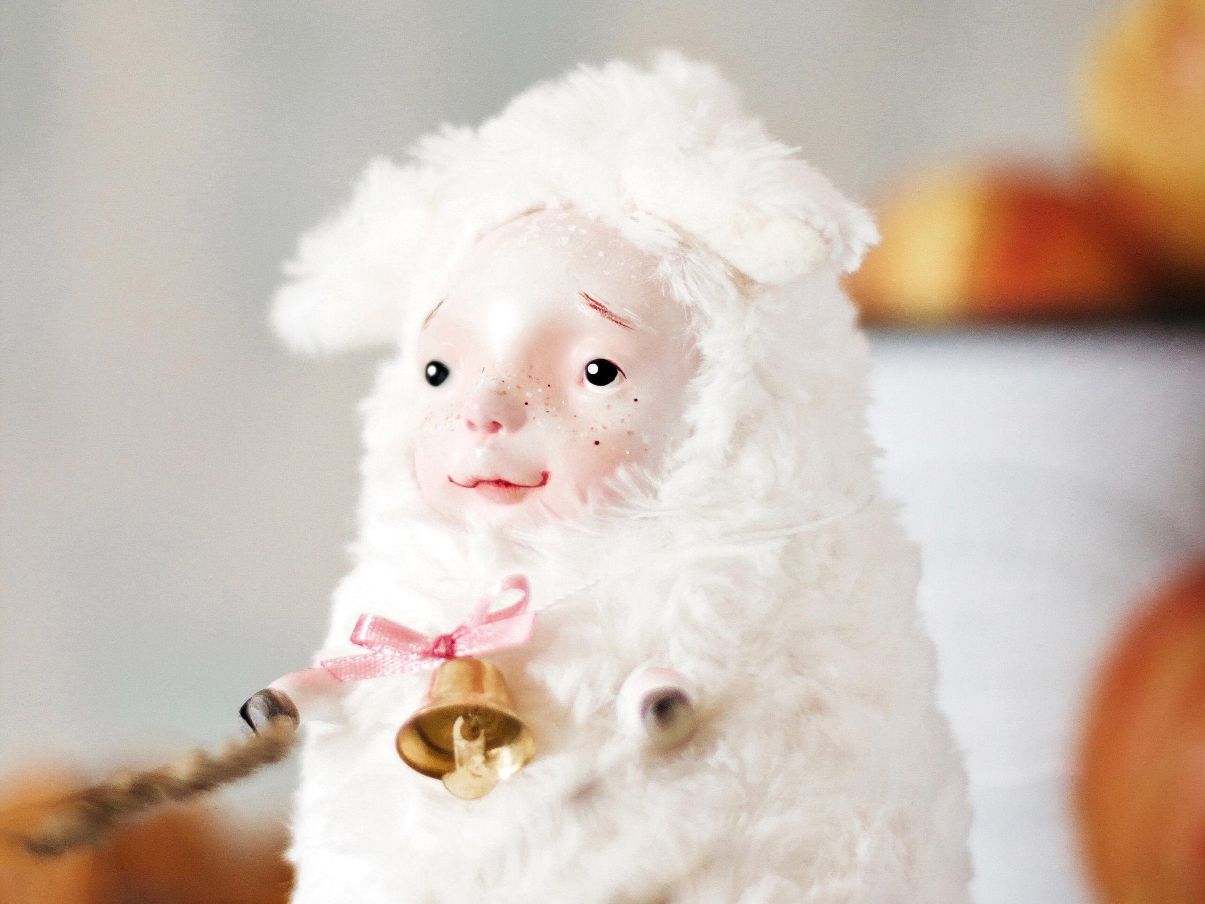 Fantasy sheep art doll