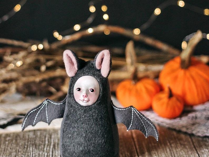 Creepy but cute bat doll