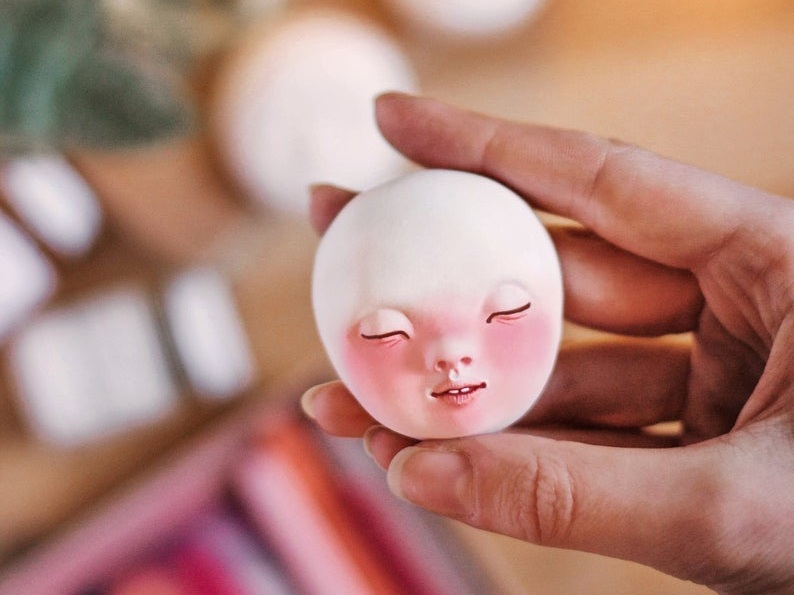 Doll faces for doll making