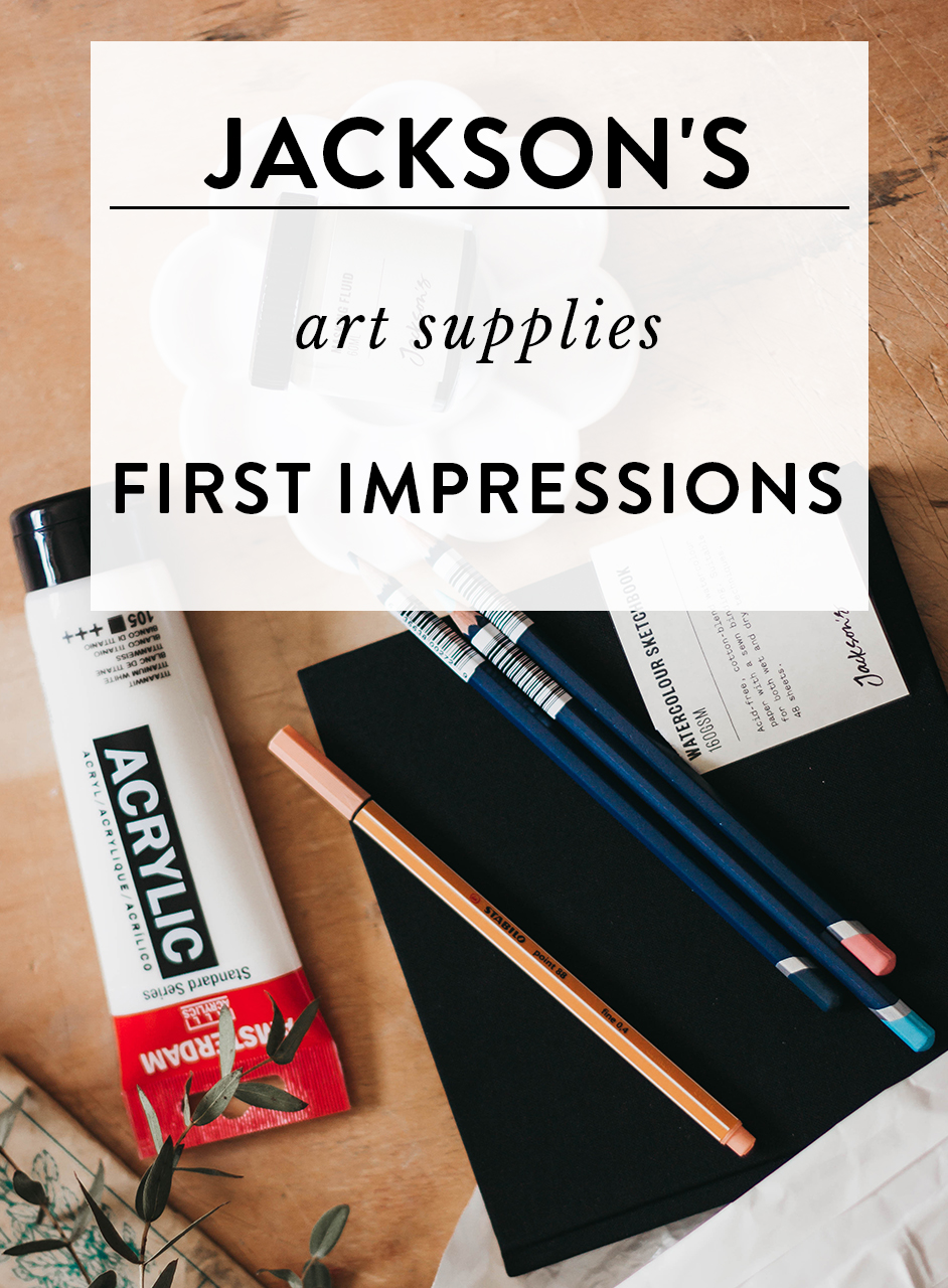 Jackson's art supplies review and first impressions by adelepo